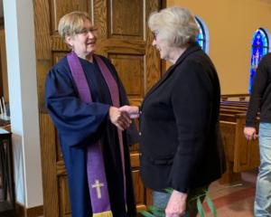 Pastor Cynthia Bacon greeting